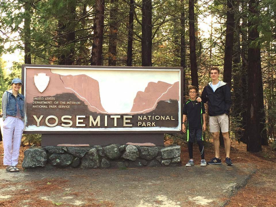Family travel to Yosemite National Park