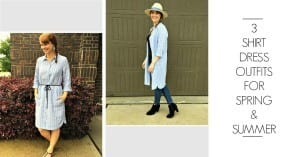 3 Shirt Dress Outfits for Spring & Summer