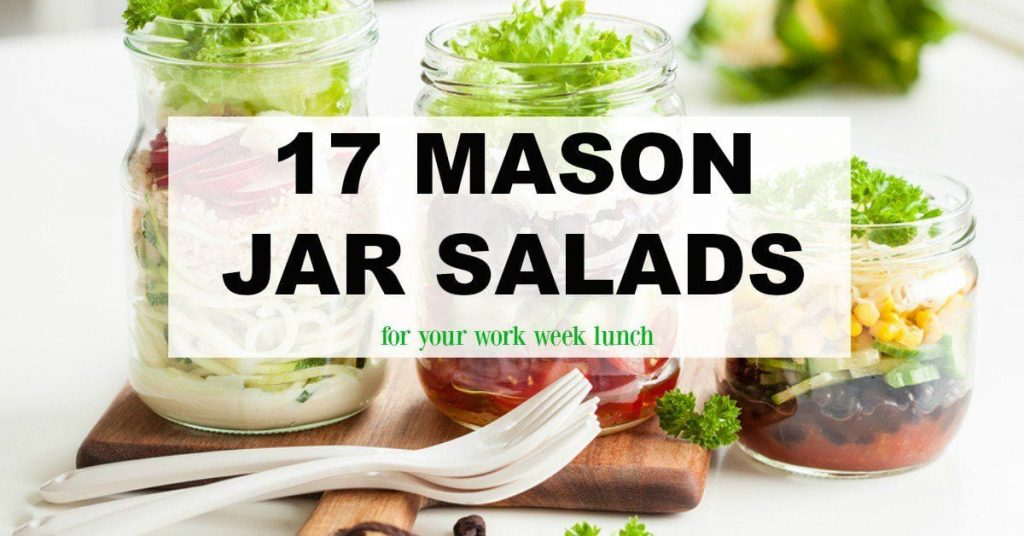 Do you struggle with what to bring for lunch? Mason jar salads can be prepped ahead of time and stored in your refrigerator. This makes them the perfect work week lunch idea!