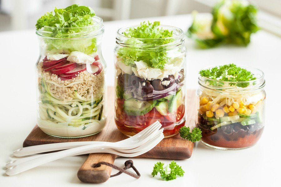 17 Mason Jar Salads for Your Work Week Lunch + How Tos