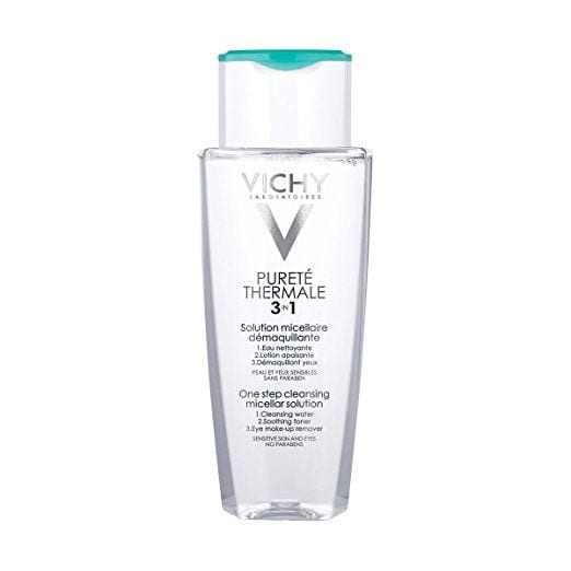 How to use micellar water: Vichy Purete Thermale 3 in 1 micellar water.