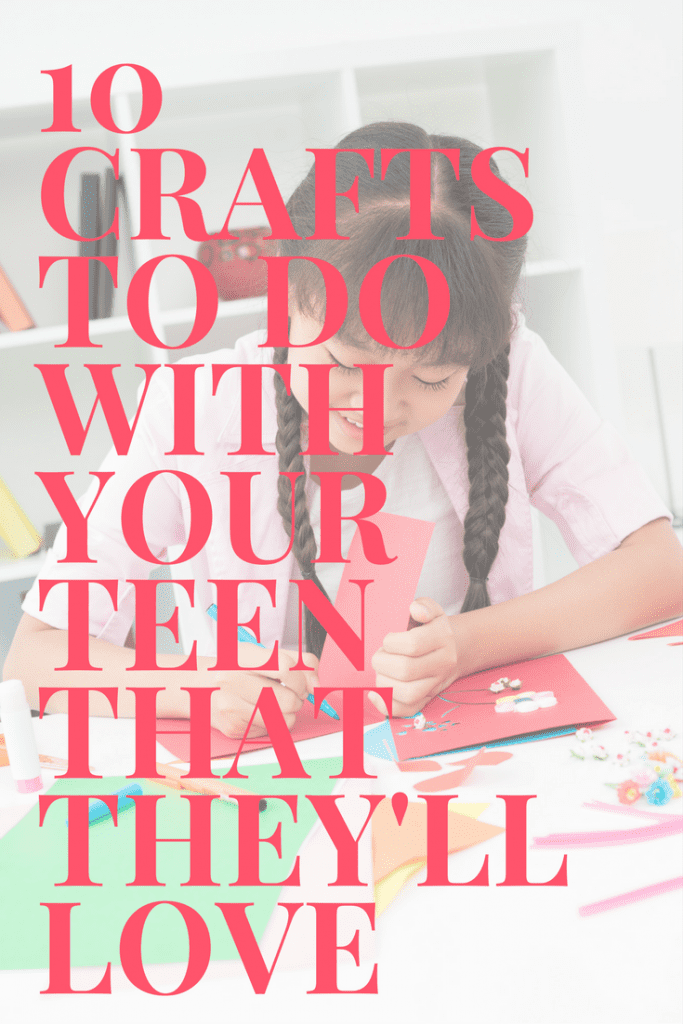 Do you need some ideas to keep your teen occupied this summer? Here are 10 easy craft ideas you can do with them that they'll absolutely love!