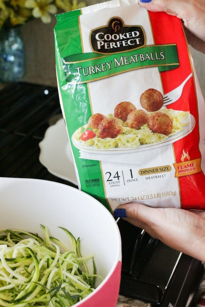 When it comes to summer meals, easy and light is best. And this Garlic Butter & Parmesan Zoodles with Turkey Meatballs recipe does not disappoint. It's fast. It's flavorful. It's the perfect summertime dinner.