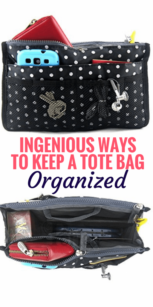 Tote Bag Organization Ideas: Whether you're headed out for a day of travel or to the pool with the kids for the afternoon, these ingenious ways to keep your tote bag organized will help curb the chaos. #totebag #totebagorganization #organizetotebag