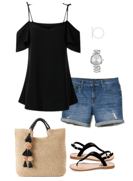 Outfit Details Black Cold Shoulder Top I LOVE This One