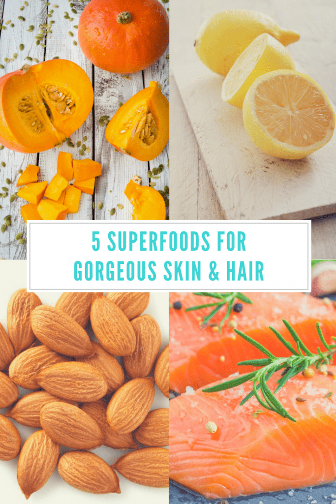 5 superfoods for gorgeous skin and hair - These 5 foods will help give you what your body needs for healthy skin and hair. Find out what they are and why they're so good for you!