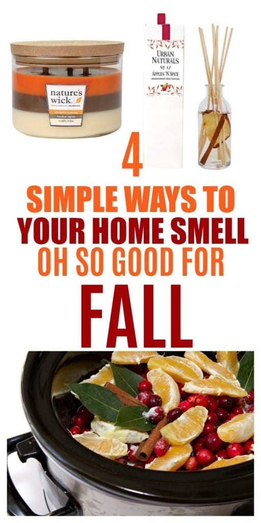 These 4 simple ways will make your home smell good for fall. Think pumpkins, cinnamon, vanilla and orange. Every time someone walks into your home, they'll be greeted with a burst of fall. Sounds good to me!