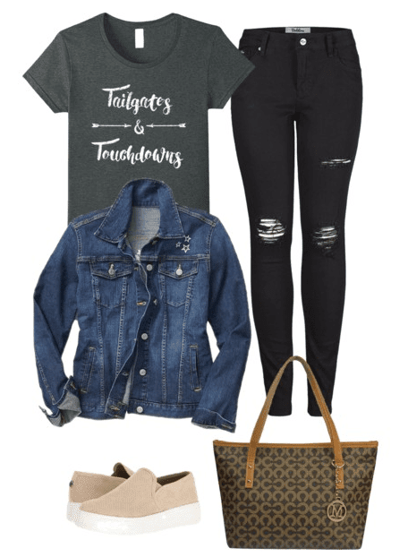 It's game day and you're wondering what to wear to a football game! Look no further ladies. We have the scoop and the cutest outfit ideas for a night under the stadium lights.