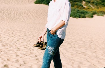 Instant Outfit Formula: White Button Down and Your Favorite Jeans