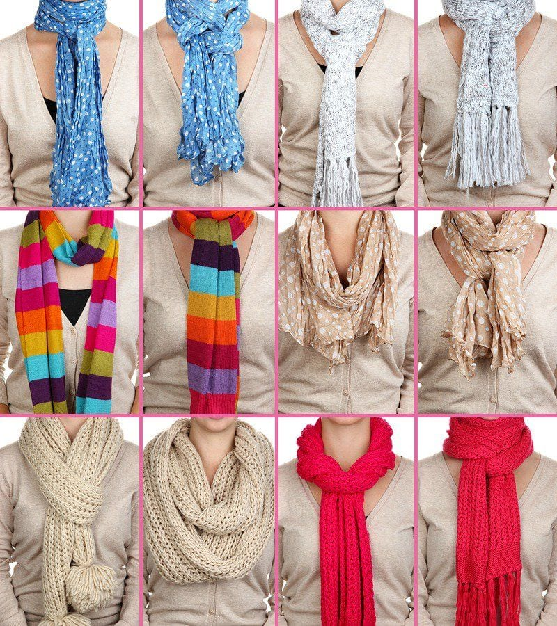 Everything you'veever wanted to know about how to tie a scarf. A scarf is one of the best accessories for fall and winter. Not only does it look fantastic with your outfits, but it keeps you warm. See all of the ways to tie #blanketscarves #infinityscarves and #longscarves. #howtotieascarf