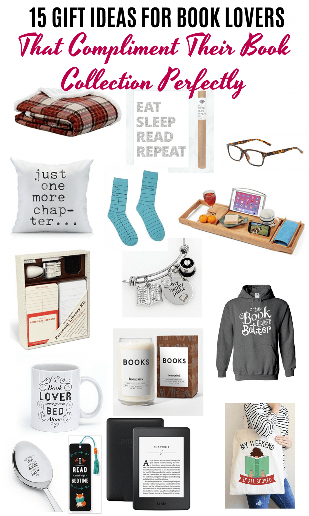15 gift ideas for book lovers that compliment their book collection