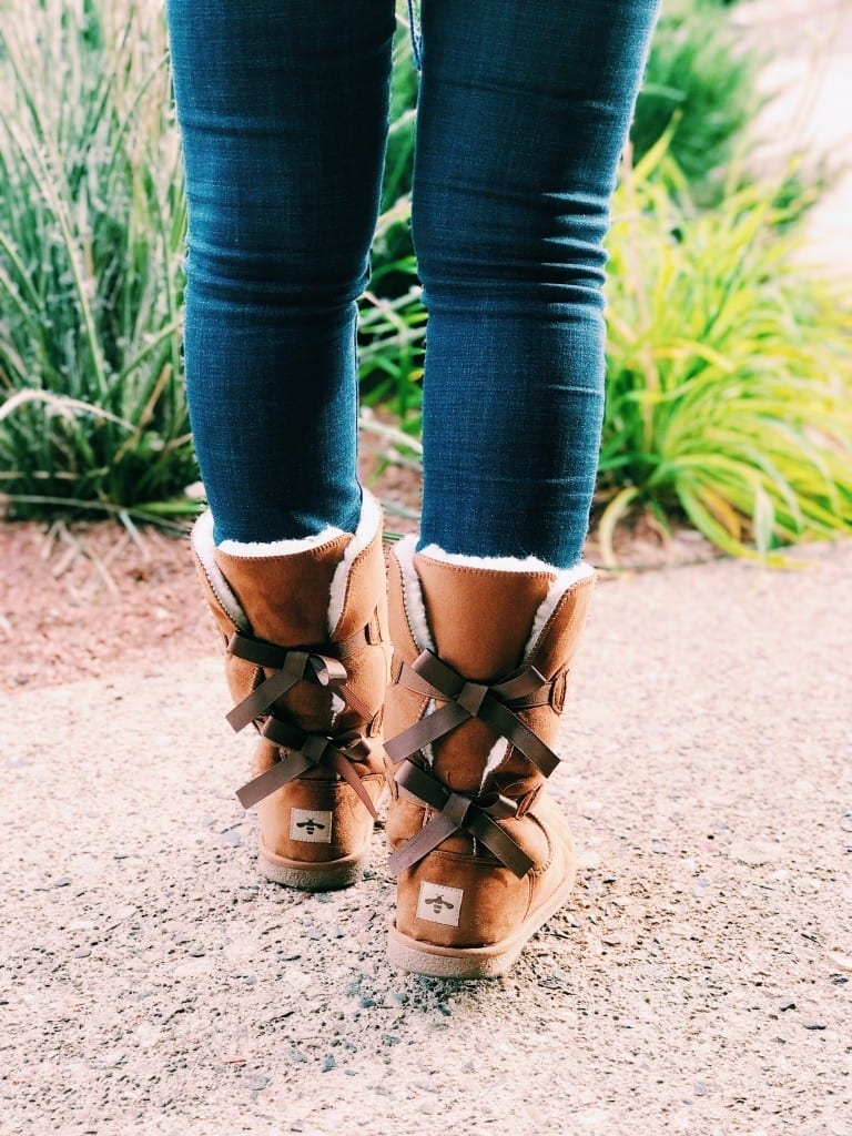 Winter boots for her. How cute are these Willowbee boots with ribbon detailing? They're warm, stylish AND affordable.