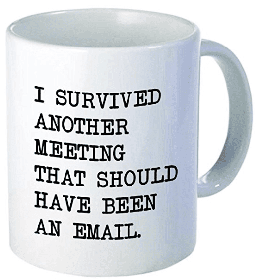 survived meeting should have been email mug