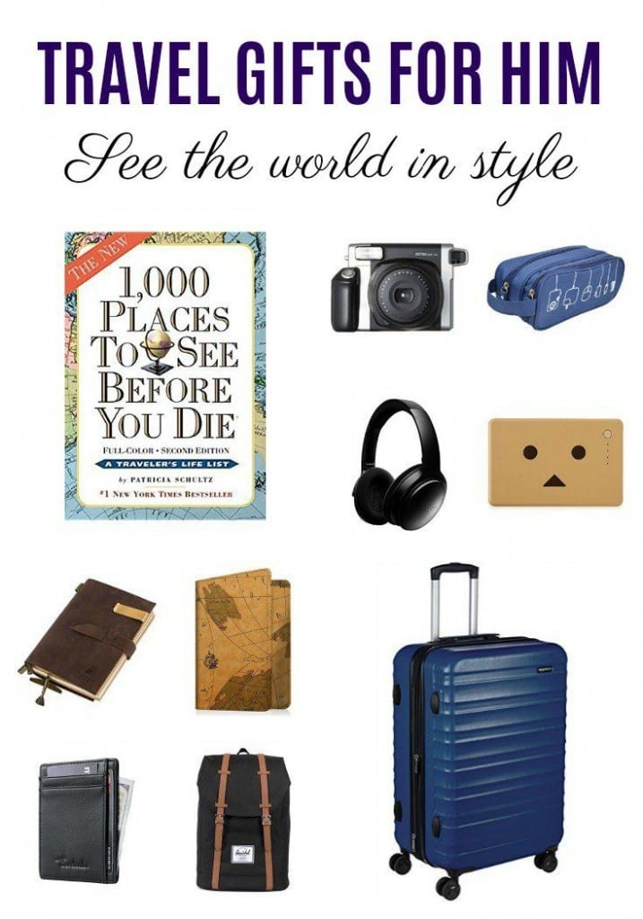 Whether he's traveling for work or pleasure, these travel gifts for him are useful and fun. From tech gadgets to organizing essentials, he'll be prepared.