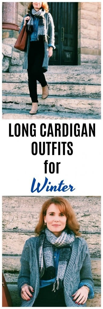 Long cardigan outfit for winter