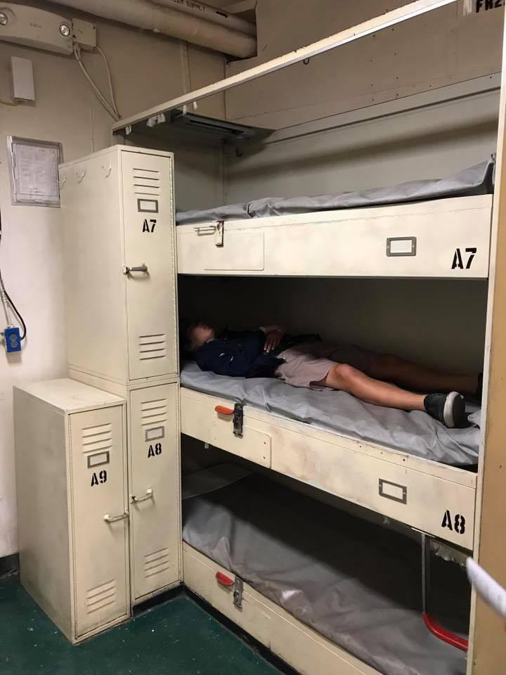 The bunks on the USS Midway