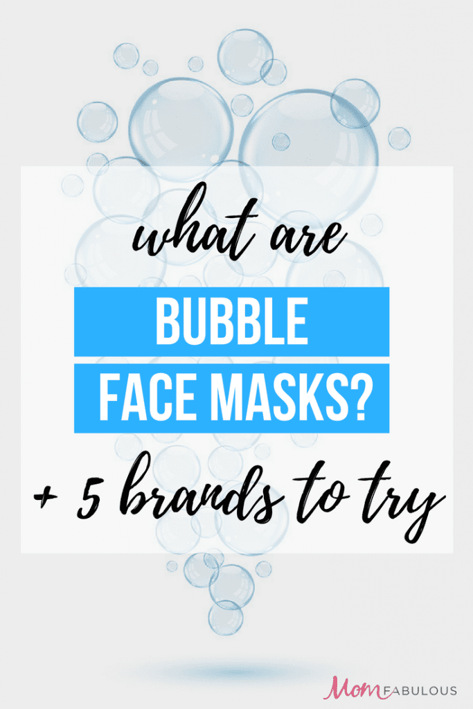 What are bubble face masks?