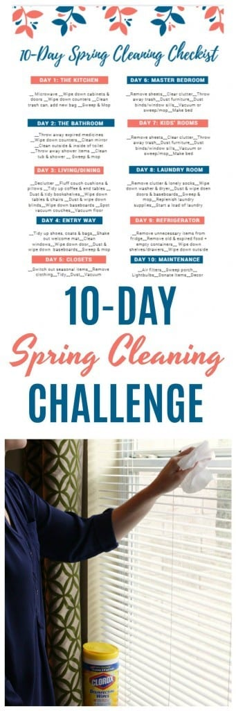 10 Day Spring Cleaning Checklist and Challenge