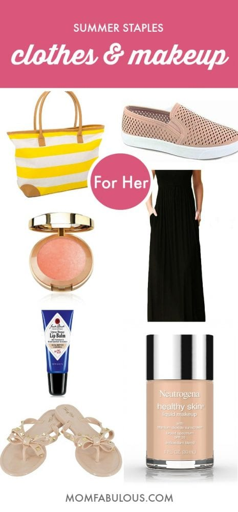 Summer staples clothes and makeup
