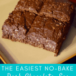 The Easiest No-Bake Dark Chocolate, Sea Salt, and Coconut Dessert
