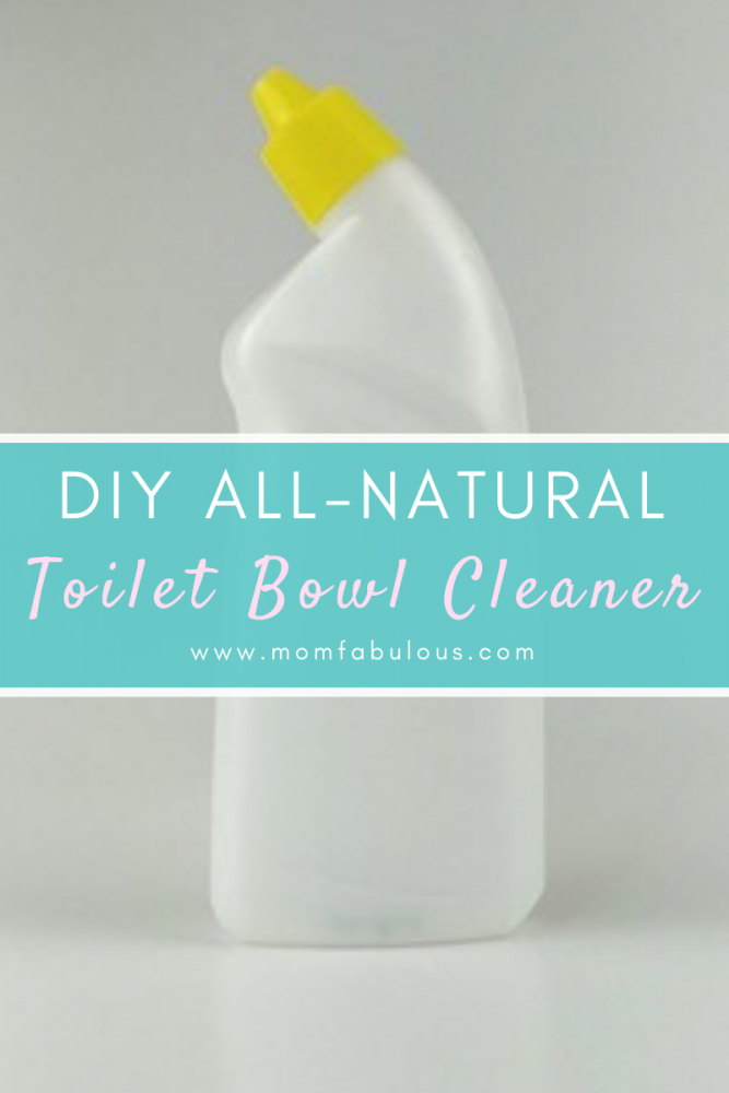 DIY all natural toilet bowl green cleaner