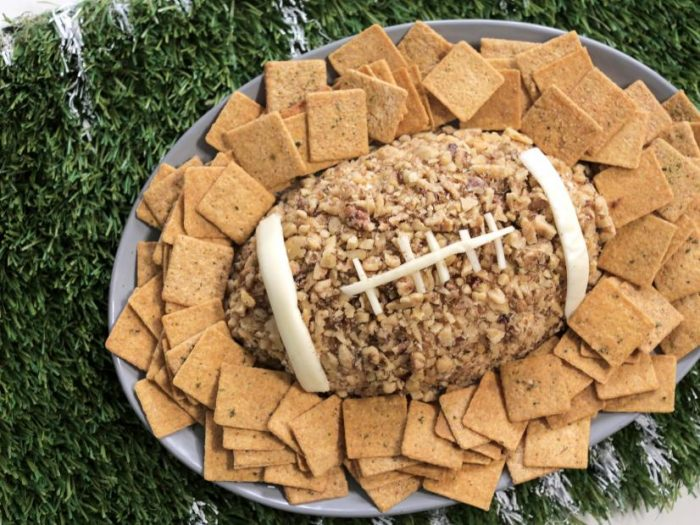 https://www.foodnetwork.com/recipes/valerie-bertinelli/football-cheeseball-with-herbed-crackers-3878486