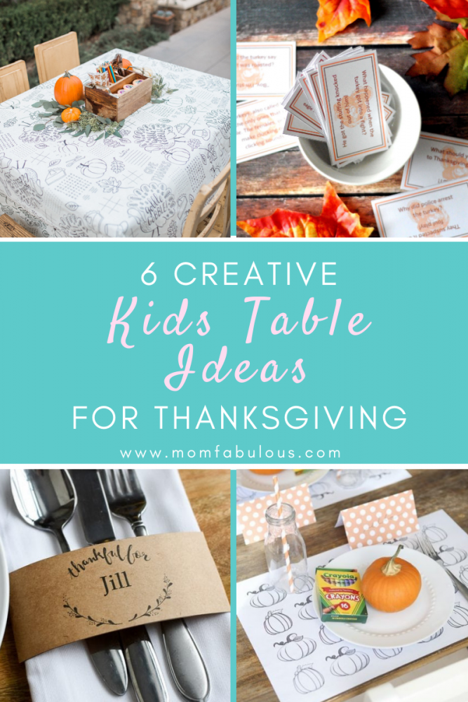 6 Creative Kids Table Ideas for Thanksgiving