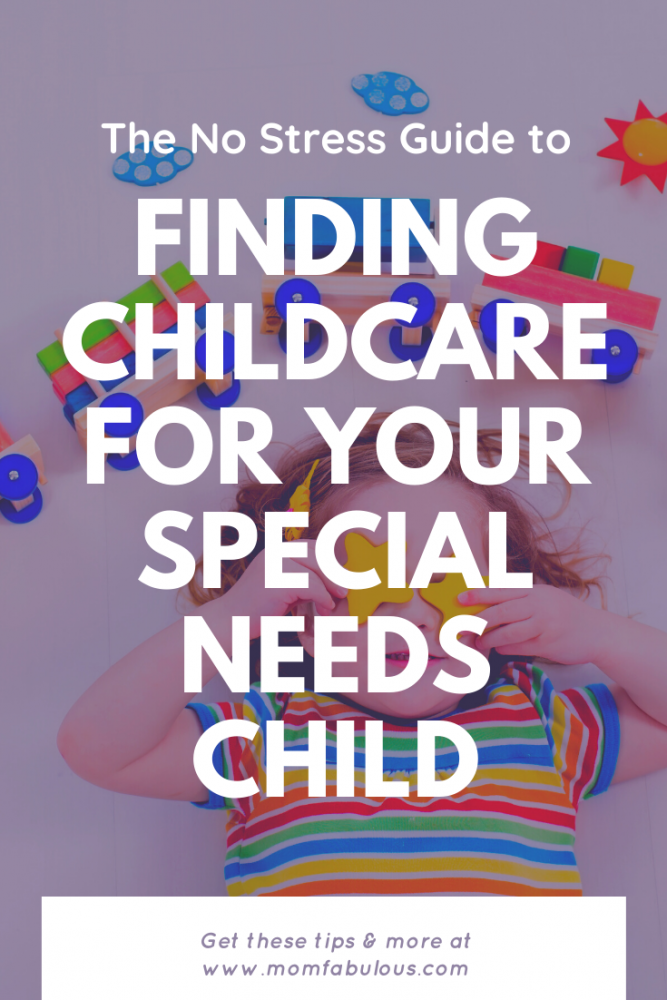 Finding childcare for your special needs child #childcare #specialneeds #specialneedscaregivers